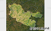 Satellite Map of Moselle, darken