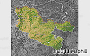 Satellite Map of Moselle, desaturated