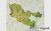 Satellite Map of Moselle, lighten