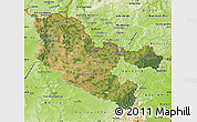Satellite Map of Moselle, physical outside