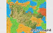 Satellite Map of Moselle, political outside