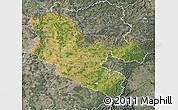 Satellite Map of Moselle, semi-desaturated