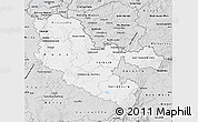 Silver Style Map of Moselle