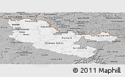 Gray Panoramic Map of Moselle