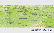 Physical Panoramic Map of Moselle