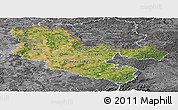 Satellite Panoramic Map of Moselle, desaturated
