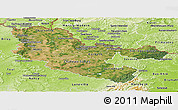 Satellite Panoramic Map of Moselle, physical outside