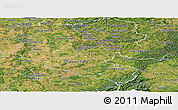 Satellite Panoramic Map of Moselle