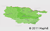 Political Shades Panoramic Map of Lorraine, cropped outside