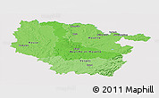 Political Shades Panoramic Map of Lorraine, single color outside