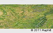 Satellite Panoramic Map of Lorraine