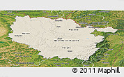 Shaded Relief Panoramic Map of Lorraine, satellite outside