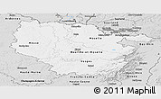 Silver Style Panoramic Map of Lorraine