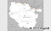 Gray Simple Map of Lorraine