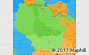 Political Shades Simple Map of Lorraine