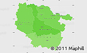 Political Shades Simple Map of Lorraine, single color outside