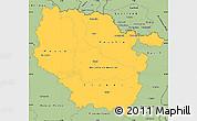 Savanna Style Simple Map of Lorraine
