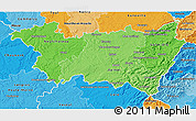 Political Shades 3D Map of Vosges