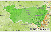 Political Shades Map of Vosges, physical outside