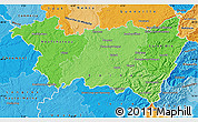 Political Shades Map of Vosges