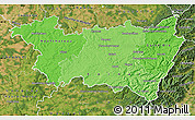 Political Shades Map of Vosges, satellite outside