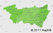 Political Shades Map of Vosges, single color outside