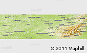 Physical Panoramic Map of Vosges