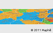 Political Panoramic Map of Vosges