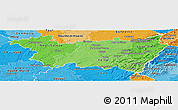 Political Shades Panoramic Map of Vosges