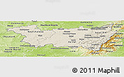 Shaded Relief Panoramic Map of Vosges, physical outside