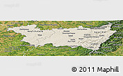 Shaded Relief Panoramic Map of Vosges, satellite outside