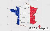 Flag Map of France