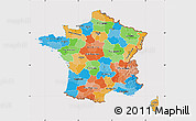 Political Map of France, cropped outside