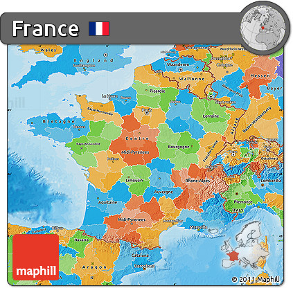 Free political map of france political map of france gumiabroncs Image collections