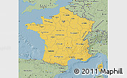 Savanna Style Map of France