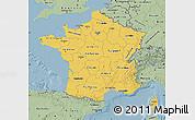 Savanna Style Map of France