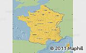 Savanna Style Map of France, single color outside