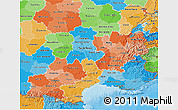 Political Shades 3D Map of Midi-Pyrénées