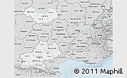 Silver Style 3D Map of Midi-Pyrénées