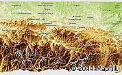 Physical 3D Map of Foix