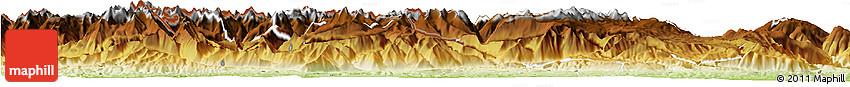 Physical Horizon Map of Foix