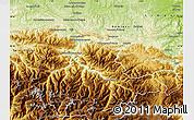 Physical Map of Foix