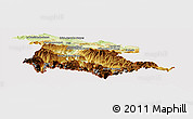 Physical Panoramic Map of Foix, cropped outside