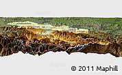 Physical Panoramic Map of Foix, darken