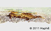 Physical Panoramic Map of Foix, lighten