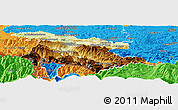 Physical Panoramic Map of Foix, political outside