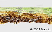 Physical Panoramic Map of Foix