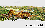 Physical Panoramic Map of Foix, satellite outside