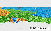 Political Panoramic Map of Foix