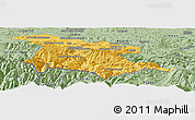Savanna Style Panoramic Map of Foix
